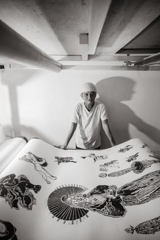 Francisco de Almeida, artista plástico, para revista Galeria