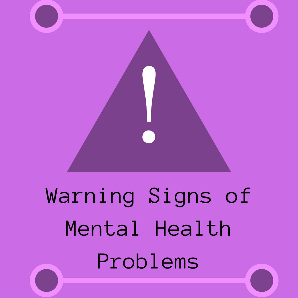 Signs of mental health problems