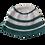 Thumbnail: Teal&White Bucket Hat