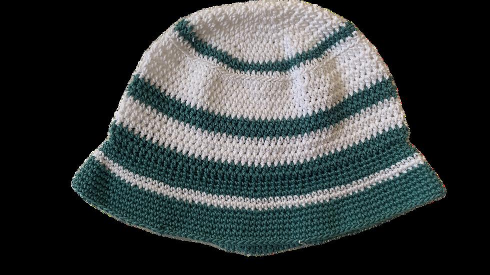 Teal&White Bucket Hat