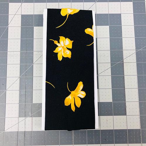 Black W/ Yellow Flowers