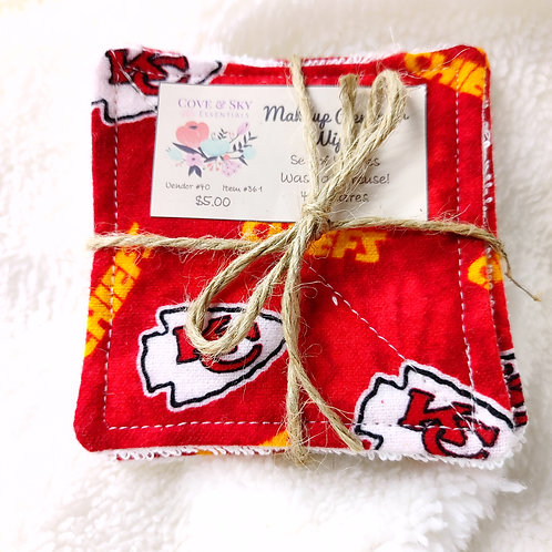 KC Chiefs Makeup Remover Wipes
