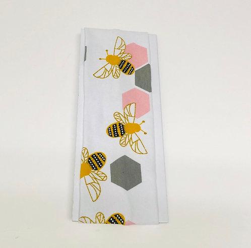 White W/ Bees