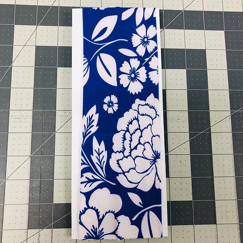 Blue W/ White Flowers