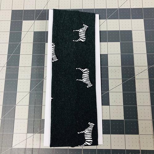Charcoal Gray W/ Zebras