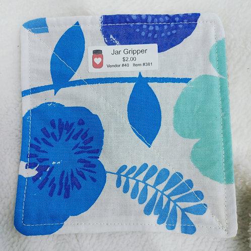 Blue Flowers Jar Gripper