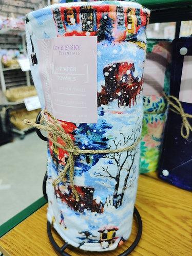 Christmas Snow Scene Unpaper Towels