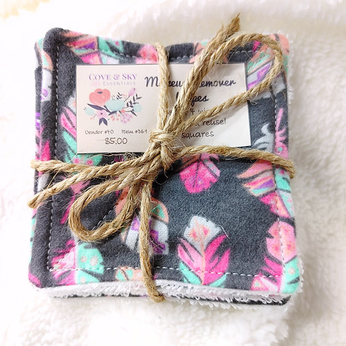 Gray W/ Feathers Makeup Remover Wipes