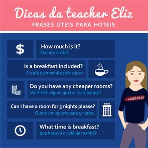 Frases úteis em inglês para hotéis