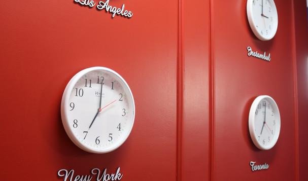 Relógio de diversos lugares
