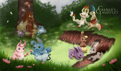 The Rabbit Warren Playmat