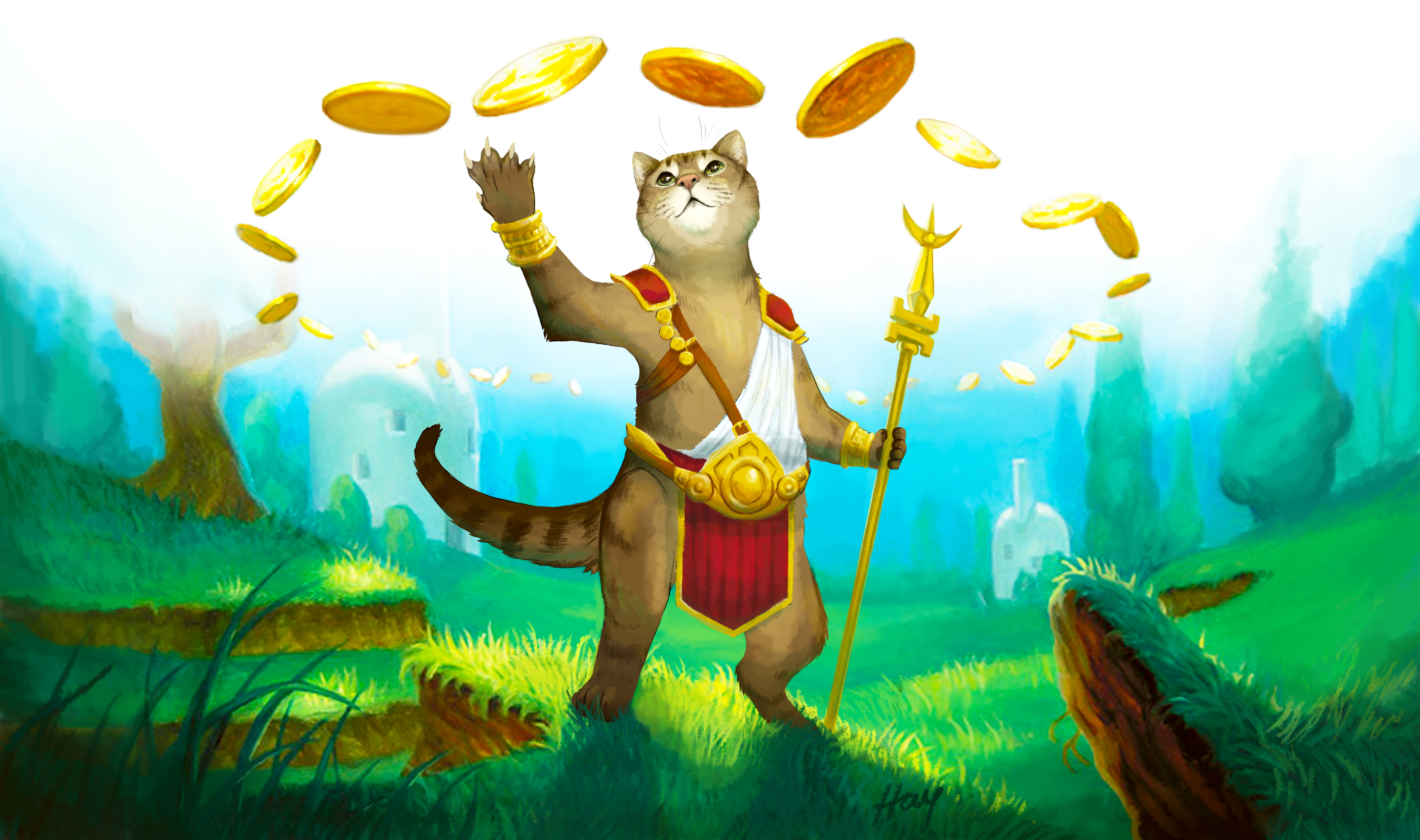 Rhoxi Cat War Monk Playmat