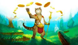 Rhoxi Cat War Monk Playmat