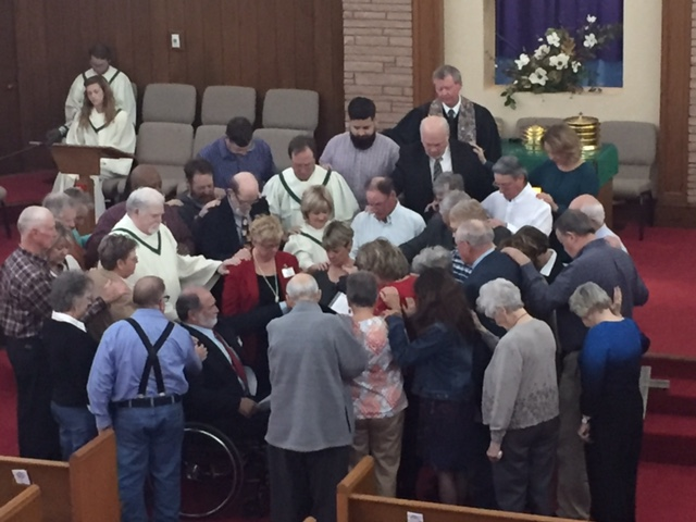 Laying on hands for Elder
