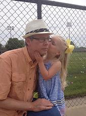 Mark Loewen and granddaughter