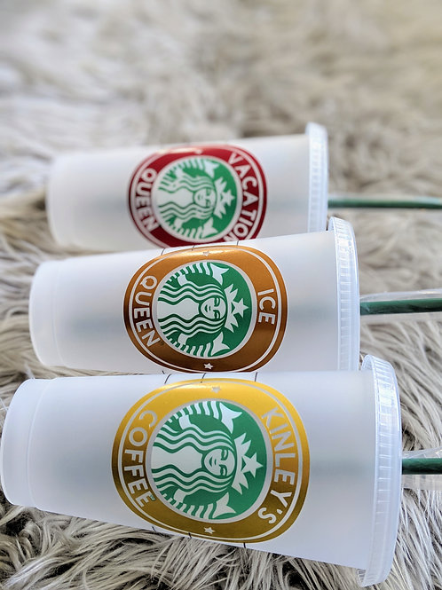 Personalized COLD Reusable Cups