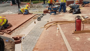 Curb, Gutter, and Brick Sidewalk Work from 4th St NE to 2nd St NE