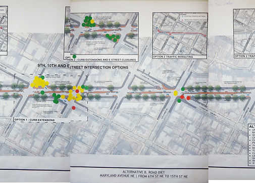 Image of map of Marland Avenue NE from a public meeting in 2012