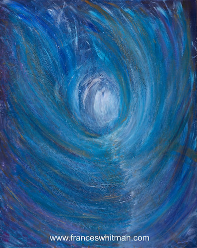 'Angelic Gateway' An Intuitive Art Postcard  by Frances Whitman