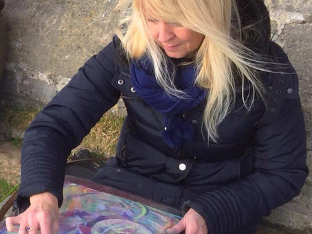 Painting The Energetic Vibrations at The Tor in Glastonbury