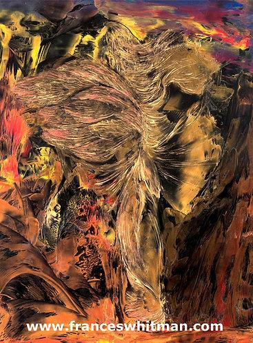 'Fire Angel' Canvas Print