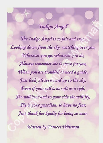'Indigo Angel' A Poem witten by Frances Whitman