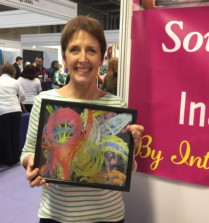Soul Energy Portraits and Readings by Frances Whitman - Client with portrait