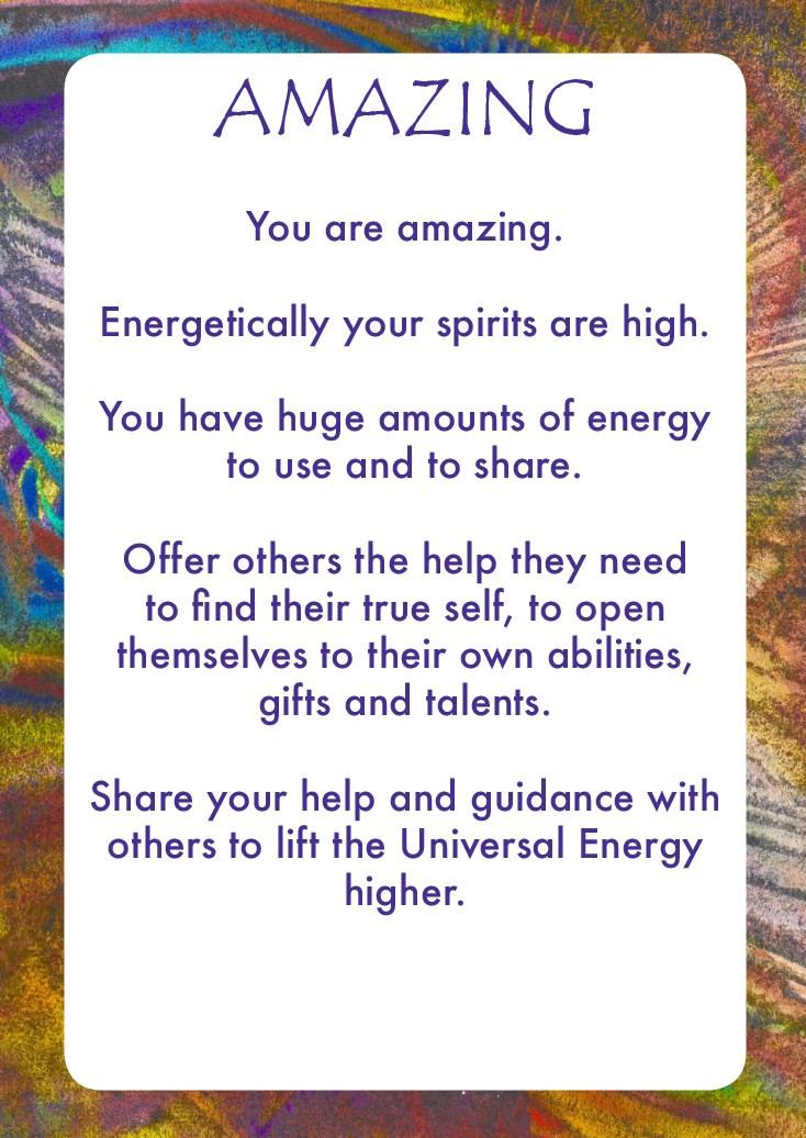 Universal Energy Oracle Card