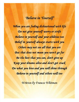 Uplifting poetry by Frances Whitman