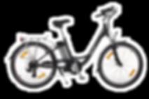 Flying Cat vélo à assistance électrique Style boutique Green E-Bike Country