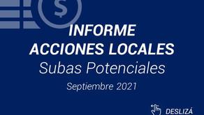 Informe Acciones Locales - Septiembre 2021
