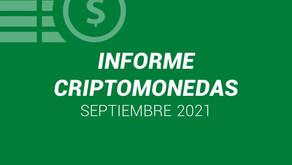 Informe Criptomonedas - Septiembre 2021