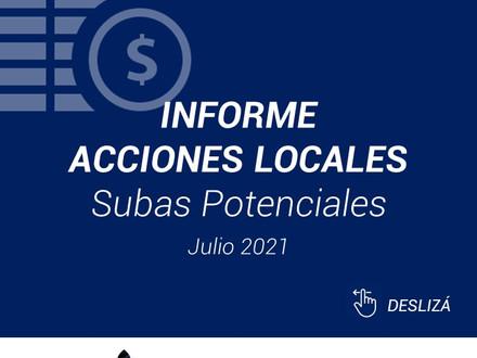 Informe Acciones Locales - Julio 2021