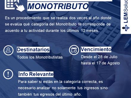 ⚠️ Recategorización Monotributistas ⚠️