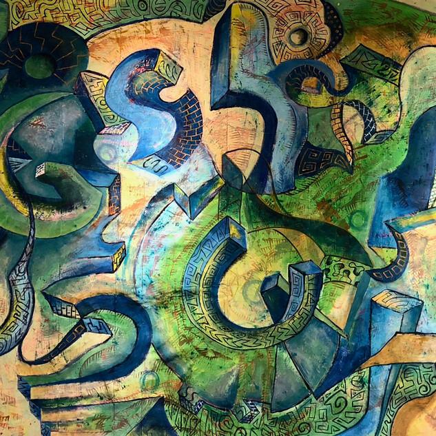 Composition 165, Graffiti