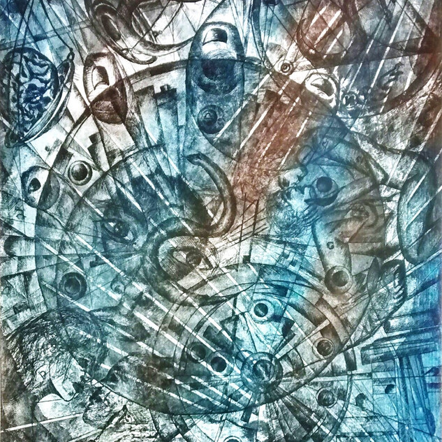 Composition 141, POWER, ETCHING  AQUATIN