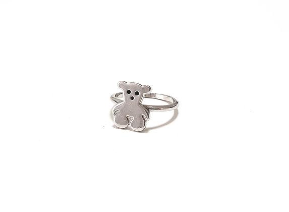טבעת דב כסף