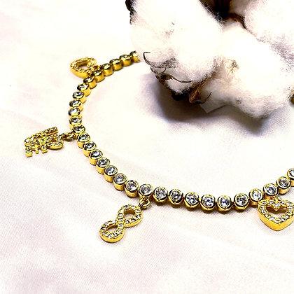 צמיד מילר במיפוי זהב משולב אלמנטים משובצים