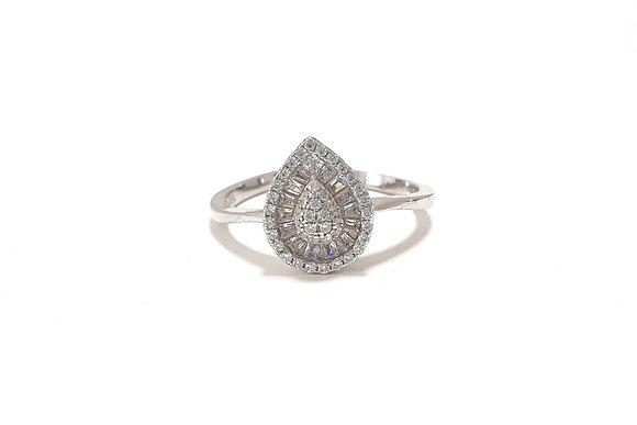 טבעת כסף טיפה