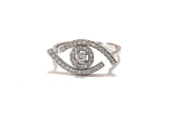 טבעת עין משובצת