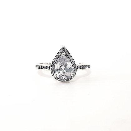 טבעת טיפה בסגנון מושחר