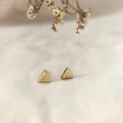עגילי משולש צמודים זהב