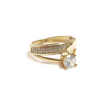 טבעת ציפוי זהב כפולה