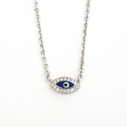 שרשרת עין קטנה עם אמייל כחול