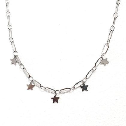 שרשרת קצרה עם כוכבים נופלים