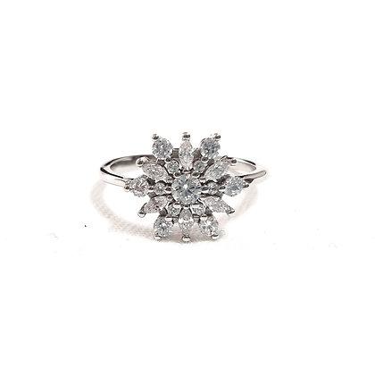 טבעת כסף פתית שלג