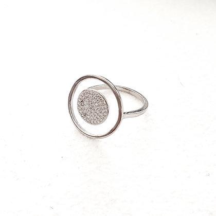 טבעת מעגלים כסף