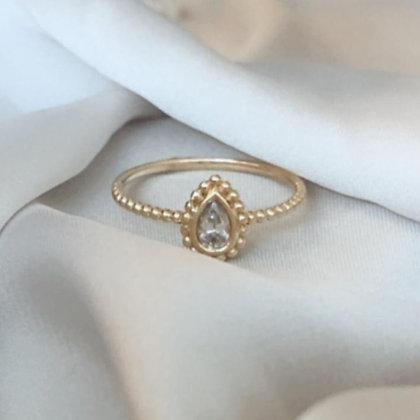 טבעת טיפה וינטג' זהב