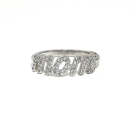 טבעת משובצת MOM