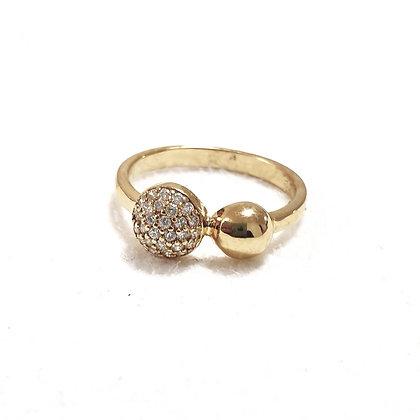 טבעת ציפוי שתי עיגולים